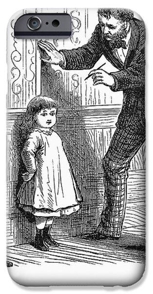 MEASURING CHILDREN, 1876 iPhone Case by Granger