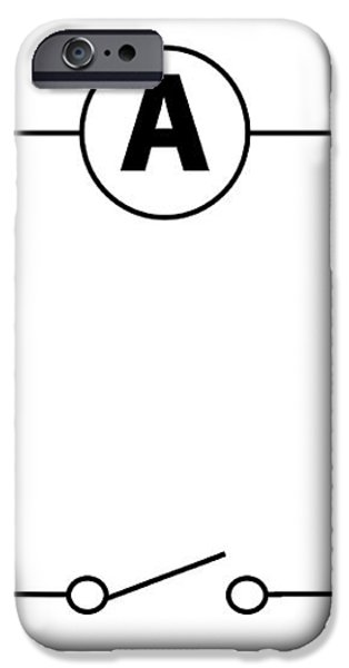 Measuring Electric Current iPhone Case by Sheila Terry