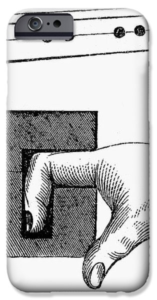 MEDIEVAL FINGER PILLORY iPhone Case by Granger