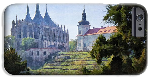 Village iPhone Cases - Medieval iPhone Case by Joan Carroll