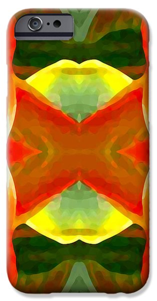 Abstract Digital Art Paintings iPhone Cases - Meditation iPhone Case by Amy Vangsgard