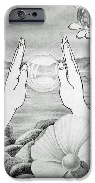 Rock Drawings iPhone Cases - Meditation  iPhone Case by Irina Sztukowski