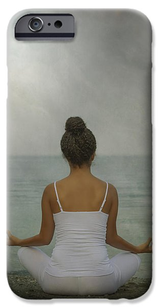Straps iPhone Cases - Meditation iPhone Case by Joana Kruse