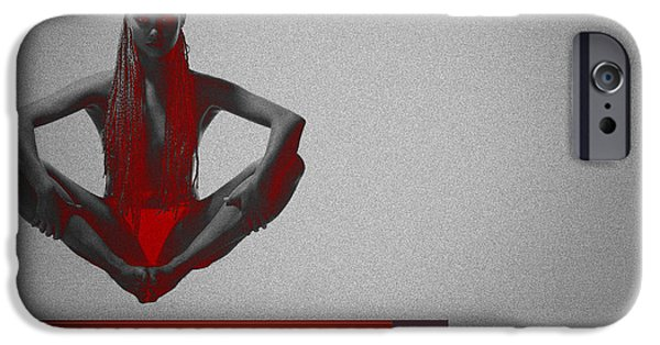 Ballet Digital Art iPhone Cases - Meditation iPhone Case by Naxart Studio