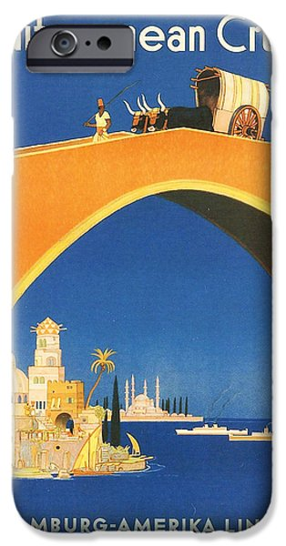 Hamburg Digital iPhone Cases - Mediterranean Cruising iPhone Case by Nomad Art And  Design