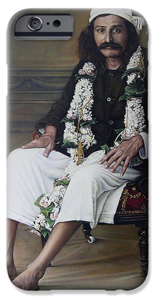 Baba Paintings iPhone Cases - Meher Baba iPhone Case by Nad Wolinska