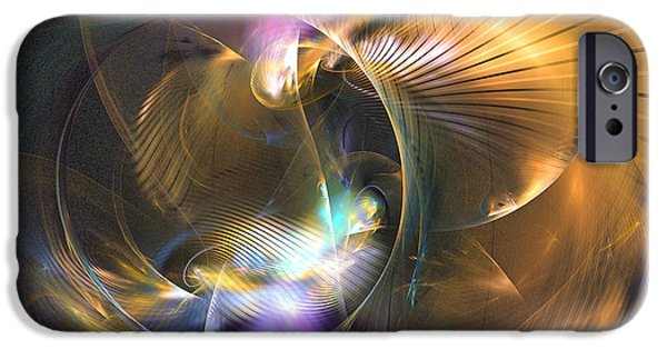 Colorful Abstract Algorithmic Contemporary iPhone Cases - Mellow - Abstract digital art iPhone Case by Sipo Liimatainen