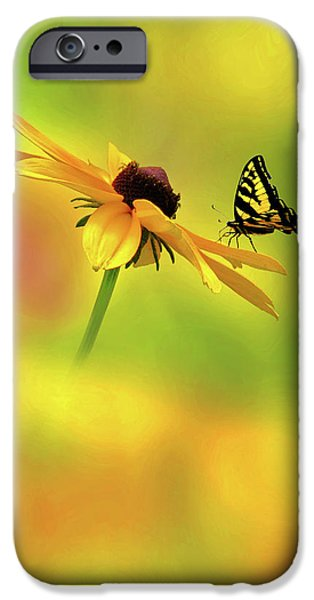The Tiger iPhone Cases - Mellow Yellow iPhone Case by John  Poon