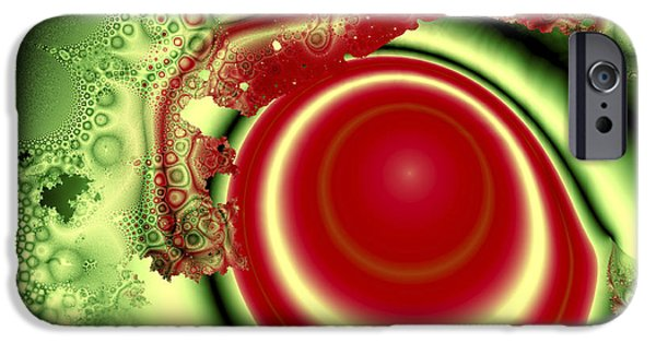 Fractals Fractal Digital Art iPhone Cases - Melon Juice iPhone Case by Jay Lethbridge