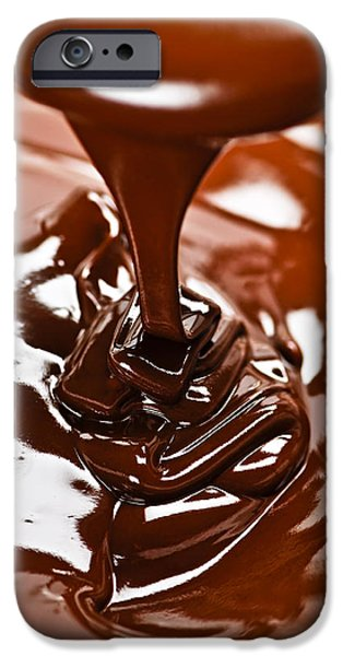 Melted chocolate and spoon iPhone Case by Elena Elisseeva