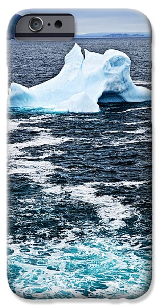 Drifting Snow Photographs iPhone Cases - Melting iceberg iPhone Case by Elena Elisseeva