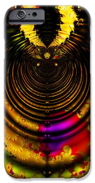 Melting Pot . Gold . Horizontal Cut . S8a.S11 iPhone Case by Wingsdomain Art and Photography