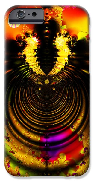 Melting Pot . Gold . S8a.S11 iPhone Case by Wingsdomain Art and Photography