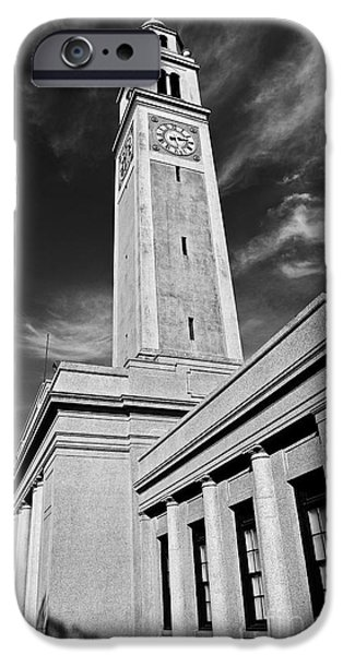 Baton Rouge iPhone Cases - Memorial Tower iPhone Case by Scott Pellegrin