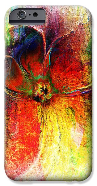 Floral Digital Art Digital Art iPhone Cases - Memories of You iPhone Case by Amanda Moore