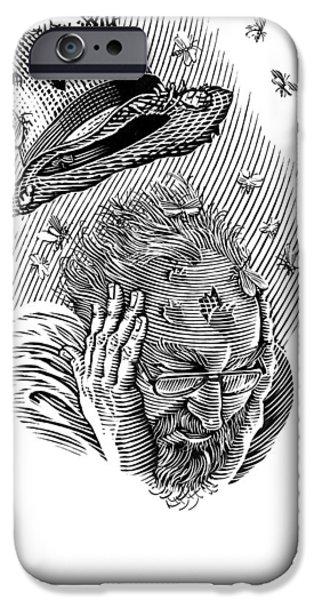 Memory Moths, Conceptual Artwork iPhone Case by Bill Sanderson