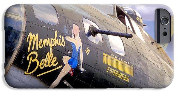 Warbird iPhone Cases - Memphis Belle Noce Art B - 17 iPhone Case by Mike McGlothlen