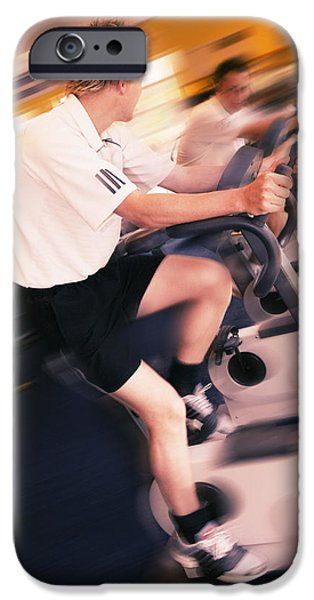 Men Exercising iPhone Case by Mark Sykes