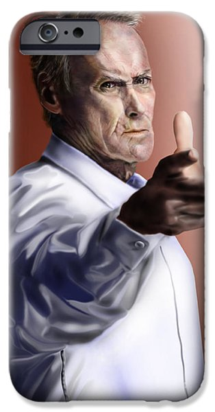 Men must know their limitations-Clint Eastwood iPhone Case by Reggie Duffie