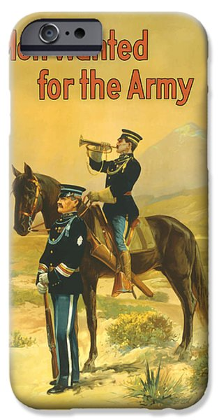 World War One Paintings iPhone Cases - Men Wanted For The Army iPhone Case by War Is Hell Store