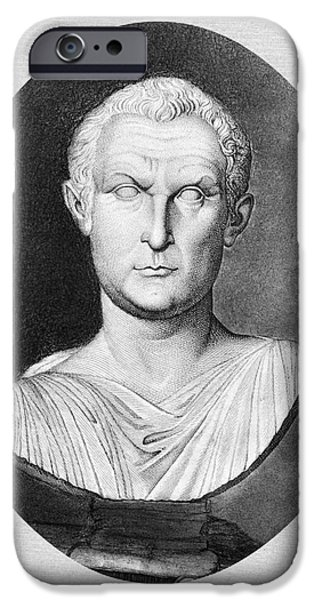 Statue Portrait iPhone Cases - Menander (343-291 B.c.) iPhone Case by Granger