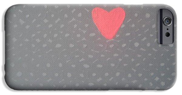 Jordan iPhone Cases - Mending the Holes in My Heart iPhone Case by Jeannie Atwater Jordan Allen