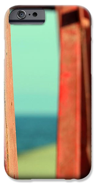 Menominee Lighthouse with Tower Detail iPhone Case by Mark J Seefeldt