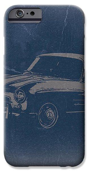 Mercedes Benz 300 SL iPhone Case by Naxart Studio
