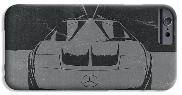 Concept Cars Digital iPhone Cases - Mercedes Benz C Iii Concept iPhone Case by Naxart Studio