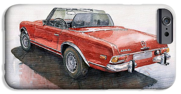 Auto iPhone Cases - Mercedes Benz W113 SL280 iPhone Case by Yuriy  Shevchuk