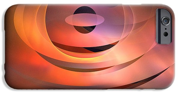 Abstract Rose Oval iPhone Cases - Meridian iPhone Case by Kim Sy Ok