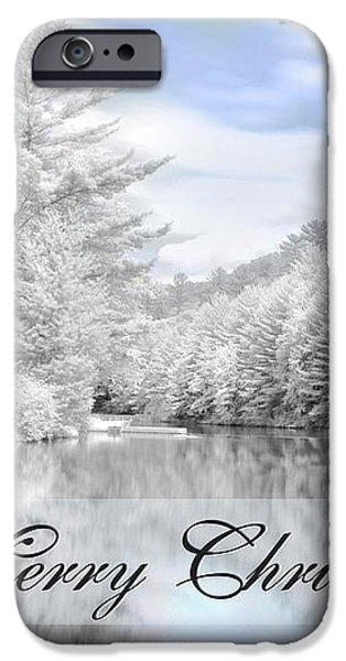 Merry Christmas - Lykens Reservoir iPhone Case by Lori Deiter