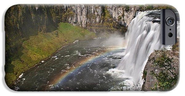 Silk Water iPhone Cases - Mesa Falls II iPhone Case by Robert Bales