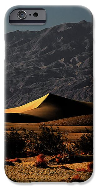 Mesquite Flat Sand Dunes Death Valley - Spectacularly abstract iPhone Case by Christine Till