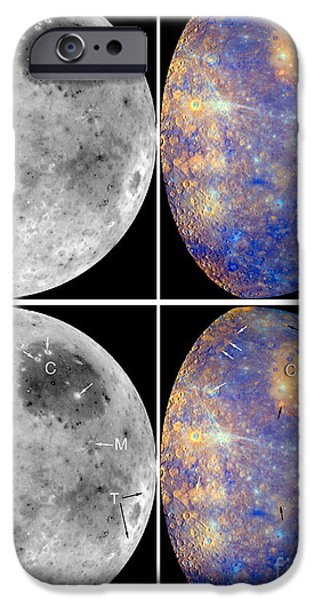 Messenger iPhone Cases - Messenger Image Of Mercury iPhone Case by Nasa