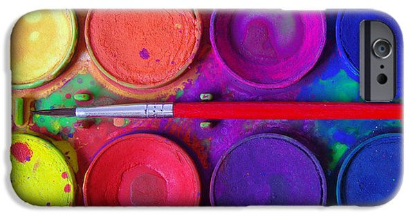 Samples iPhone Cases - Messy Paints iPhone Case by Carlos Caetano