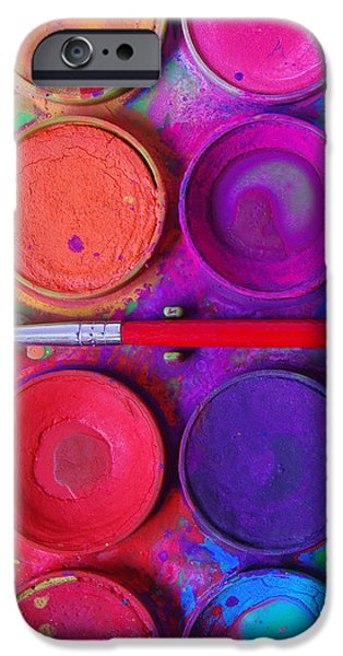 messy paints iPhone Case by Carlos Caetano
