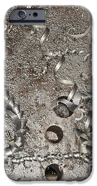 Metal Shavings on Floor iPhone Case by Shannon Fagan