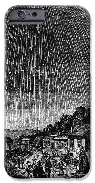 1833 Photographs iPhone Cases - Meteor Shower, 1833 iPhone Case by Granger