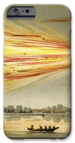 Meteorite Explosion, Historical Artwork iPhone Case by Detlev Van Ravenswaay