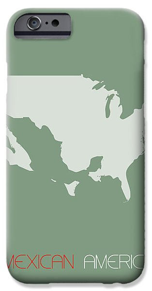 Patriotism iPhone Cases - Mexican America Poster iPhone Case by Naxart Studio