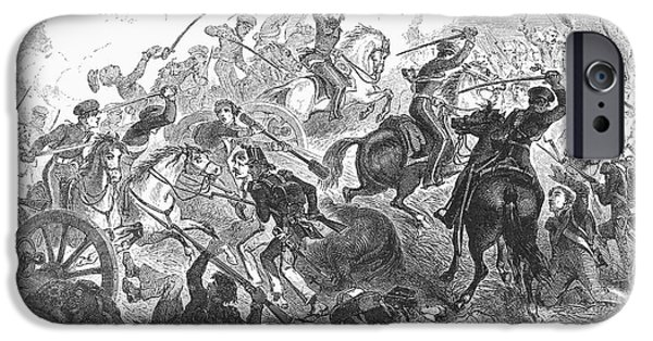 Destiny iPhone Cases - Mexican War: Cavalry, 1846 iPhone Case by Granger