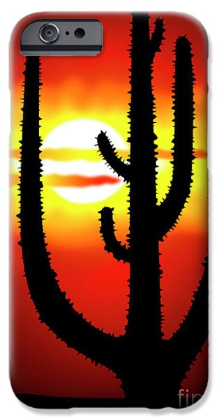 Gloaming iPhone Cases - Mexico sunset iPhone Case by Michal Boubin