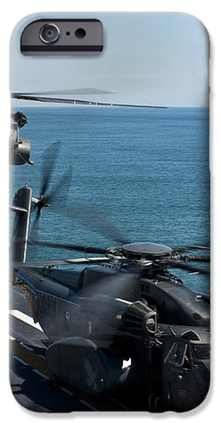 Mh-53e Sea Dragon Helicopters Take iPhone Case by Stocktrek Images