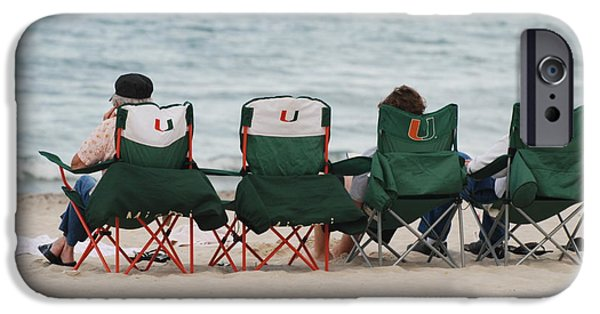 University Of Miami iPhone Cases - Miami Hurricane Fans iPhone Case by Rob Hans