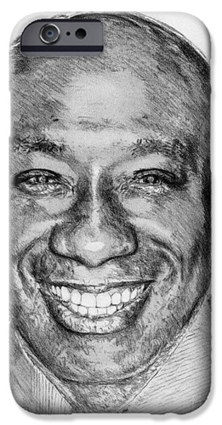 Michael iPhone Cases - Michael Clarke Duncan in 2009 iPhone Case by J McCombie