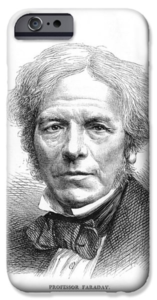 Nineteenth iPhone Cases - Michael Faraday, British Physicist iPhone Case by Science Industry & Business Librarynew York Public Library