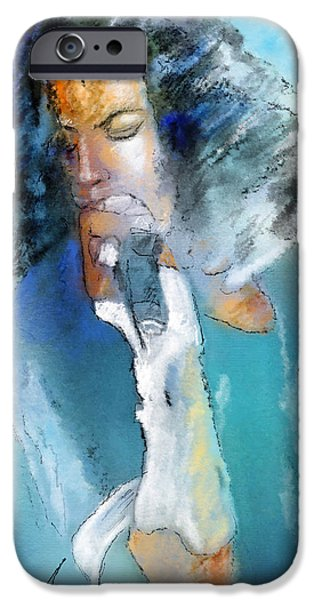 Michael Mixed Media iPhone Cases - Michael Jackson 04 iPhone Case by Miki De Goodaboom