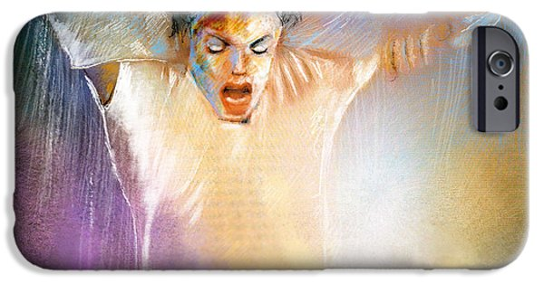 Michael Mixed Media iPhone Cases - Michael Jackson 09 iPhone Case by Miki De Goodaboom