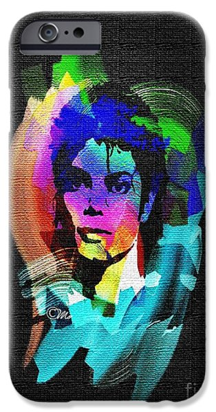 Mj Digital Art iPhone Cases - Michael Jackson iPhone Case by Mo T